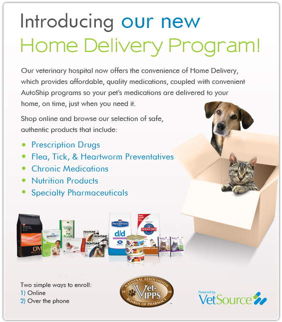 Deliver your pet's medications directly to your door!