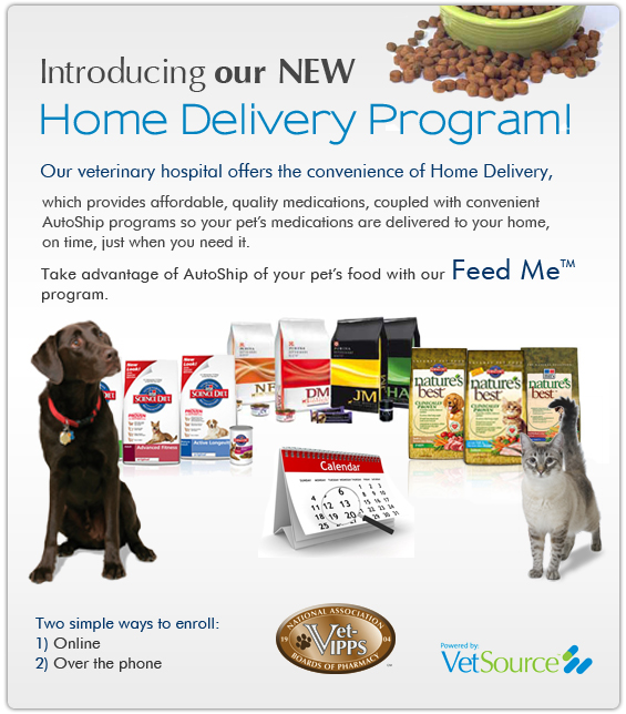 Ship your pets food to your door automatically!